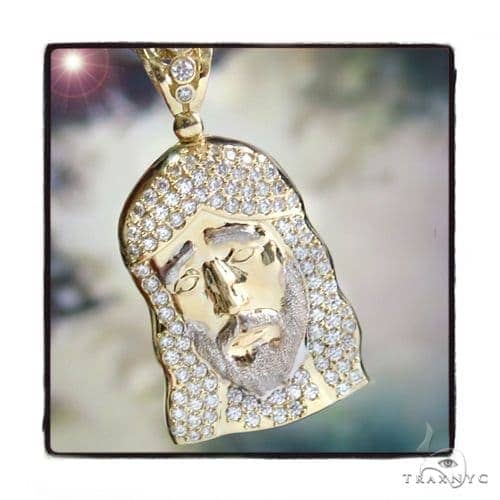 10k Yellow Gold Jesus Rope Chain Set 44401 Style