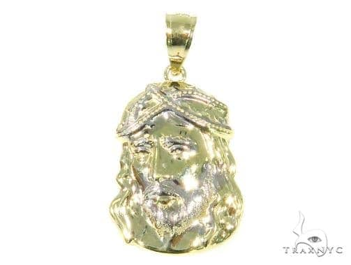 10k Yellow Gold Jesus Pendant 44473 Metal