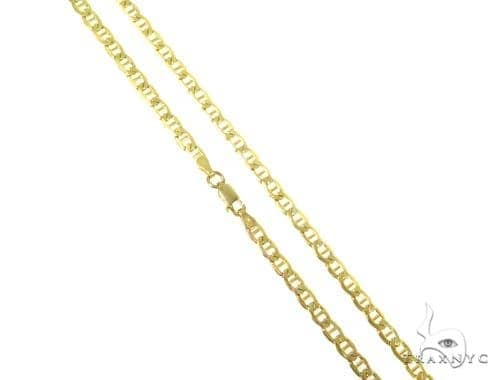 10k Yellow Gold Anchor Hollow Chain 22 Inches 5mm 7.5 Grams 44468 Gold