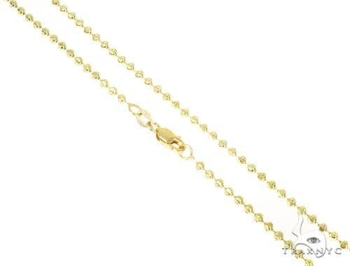 14k Yellow Gold Moon Cut Chain 30 Inches 2mm 9.6 Grams 44507 Gold
