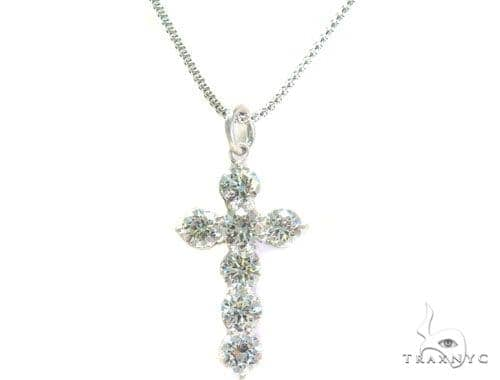 Prong Diamond Cross Necklace Set 44601 Diamond