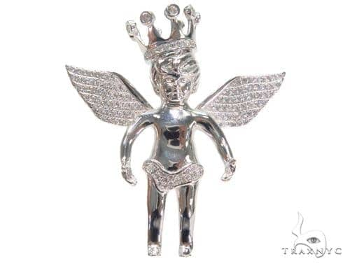 Crown Angel Silver Pendant 44640 Style
