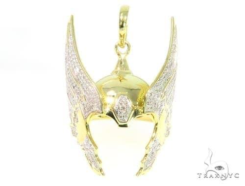 Prong Diamond Pendant 44728 Metal