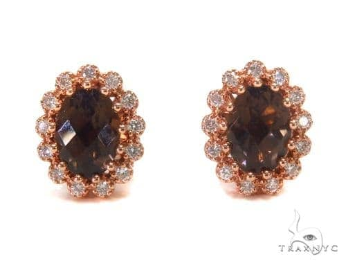 Gemstone Diamond Earrings 44745 Stone