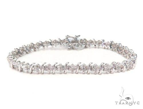 Prong Diamond Tennis Bracelet 44867 Tennis