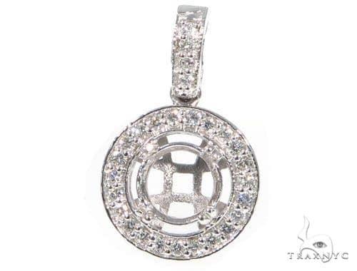 Prong Diamond Pendant 44992 Stone
