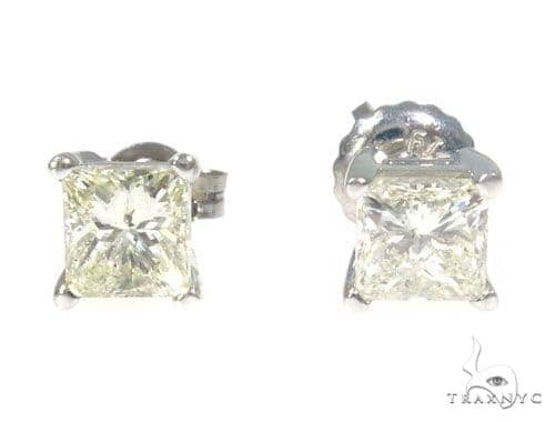Prong Diamond Stud Earrings 45056 Stone
