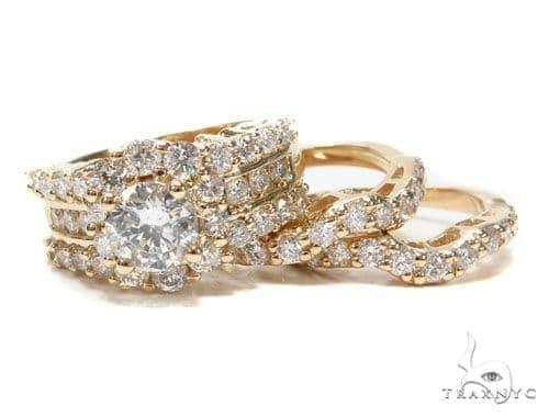Prong Diamond Wedding Ring Set 45064 Engagement