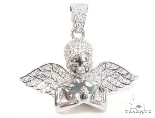 Angel Silver Pendant 45084 Metal