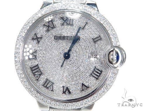 Cartier Ballon Bleu Full Diamond Automatic Watch 45217 Cartier