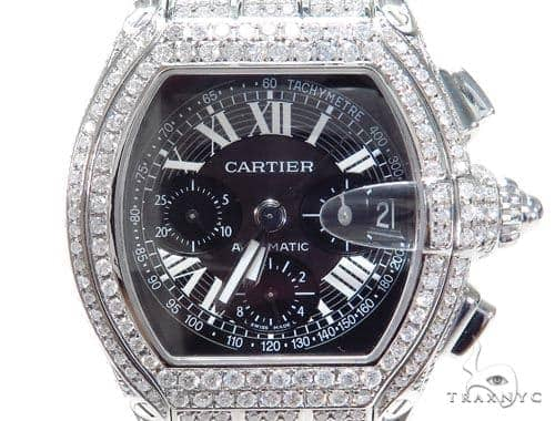 Cartier Roadster XL Chronograph Black Dial Watch 45219 Cartier