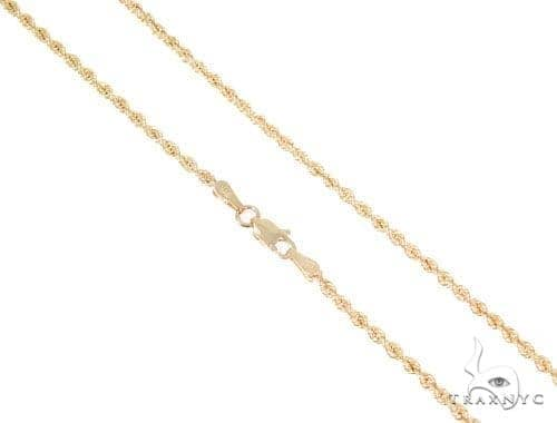 Rope Gold Chain 26 Inches 2mm 2.5 Grams 45253 Gold