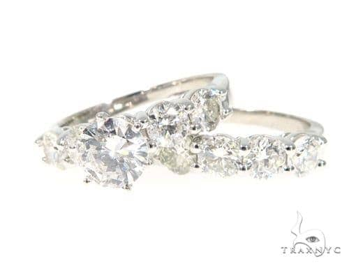 Prong  Diamond Engagement Ring Set  45262 Engagement