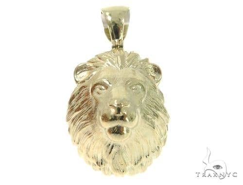 Lion Gold Pendant 45317 Metal
