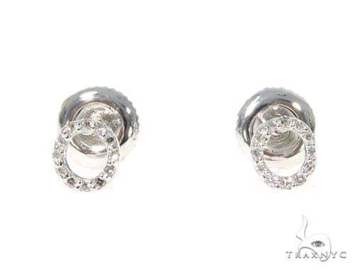 Prong Diamond Initial \'O\' Earrings 32649 Stone