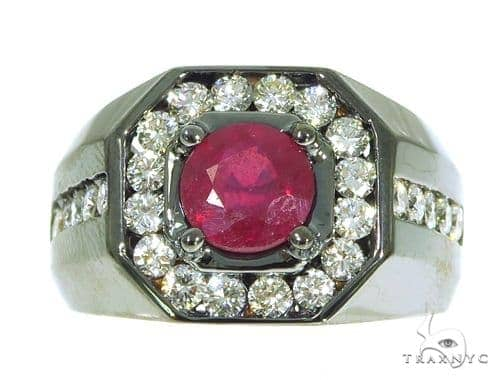 Godfather Ruby Diamond Ring 45360 Stone