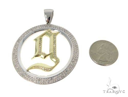 Prong Diamond 'g' Pendant 45364 Metal