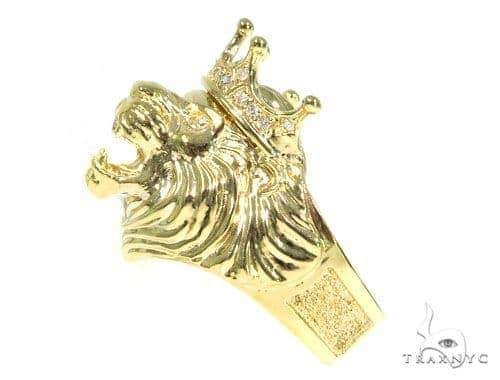 Lion King Diamond Ring 45445 Stone