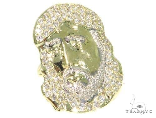 Jesus Gold Ring 45455 Metal