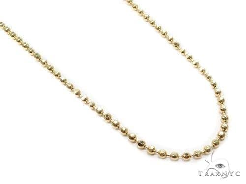 Mens 10k Solid Yellow Gold Ball Chain 24 Inches 3mm 14.39 Grams 46811 Gold
