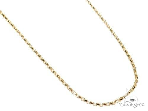 Mens 14k Solid Yellow Gold Cable Chain 18 Inches 0.8mm 0.90 Grams 47028 Gold
