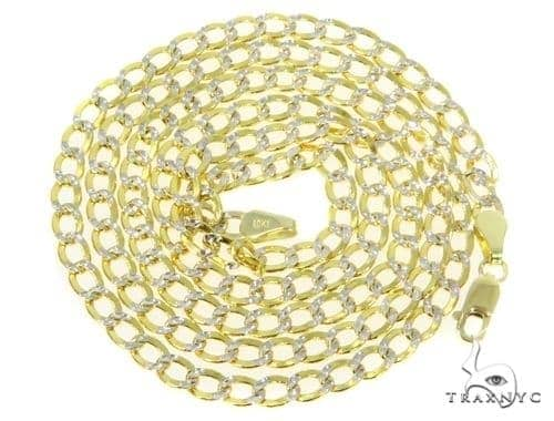 Mens 10k Hollow Yellow Gold Cuban/curb Chain 22 Inches 4.5mm 7.02 Grams 47032 Gold
