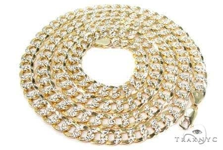Mens 10k Hollow Yellow Gold Cuban/curb Chain 22 Inches 7.5mm 22.87 Grams 47035 Gold