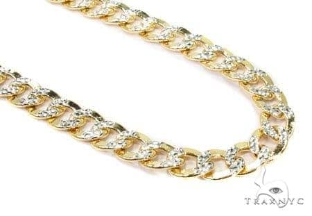 Mens 10k Solid Yellow Gold Cuban/curb Chain 24 Inches 8.3mm 34.03 Grams 47064 Gold