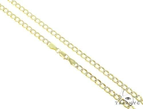 Mens 10k Hollow Yellow Gold Cuban/curb Chain 28 Inches 5.1mm 11.30 Grams 47066 Gold