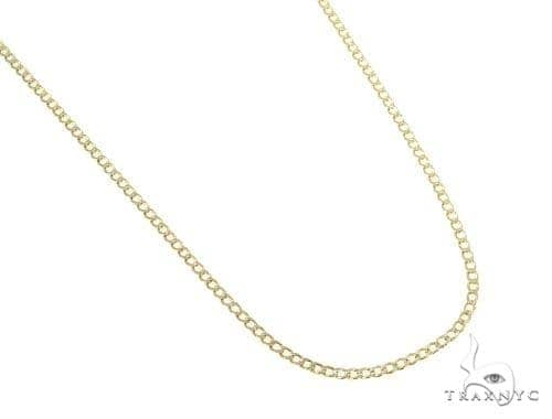 Mens 10k Hollow Yellow Gold Cuban/curb Chain 22 Inches 2.4mm 3.10 Grams 47074 Gold