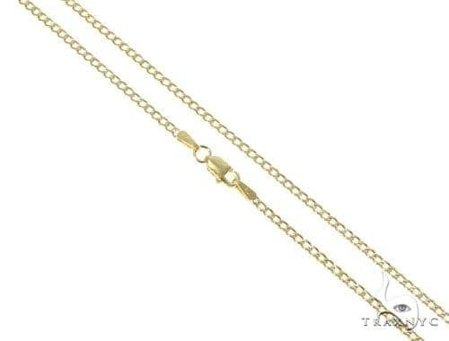 Mens 10k Hollow Yellow Gold Cuban/curb Chain 24 Inches 2.4mm 2.85 Grams 47075 Gold