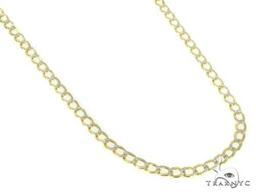Mens 10k Hollow Yellow Gold Cuban/curb Chain 30 Inches 3.5mm 5.84 Grams 47080 Gold