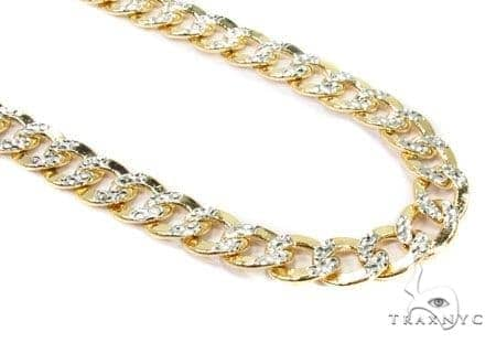 Mens 10k Hollow Yellow Gold Cuban/curb Chain 28 Inches 7mm 23.87 Grams 47090 Gold