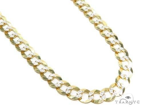 Mens 10k Hollow Yellow Gold Cuban/curb Chain 30 Inches 10.7mm 60.10 Grams 47094 Gold