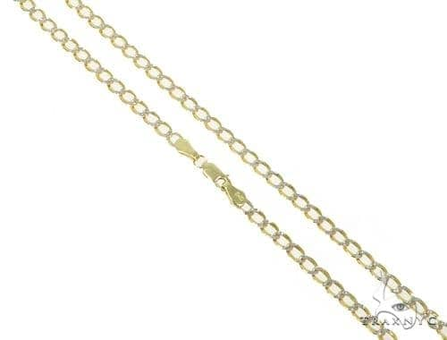 Mens 14k Solid Yellow Gold Cuban/curb Chain 24 Inches 5.4mm 20.77 Grams 47107 Gold