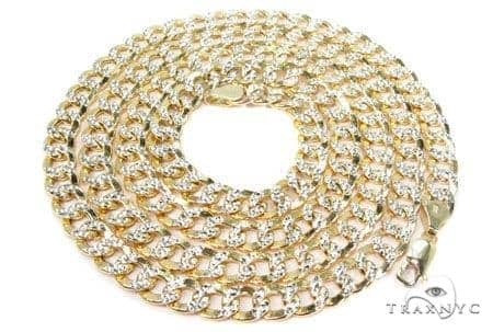 Mens 14k Solid Yellow Gold Cuban/curb Chain 20 Inches 8mm 32.50 Grams 47123 Gold