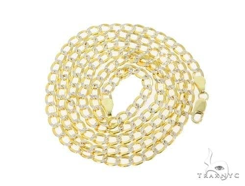 Mens 14k Solid Yellow Gold Cuban/curb Chain 30 Inches 4.8mm 16.47 Grams 47139 Gold