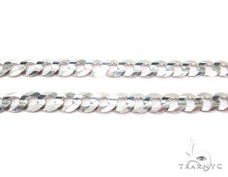 Mens 10k Solid White Gold Cuban/curb Chain 28 Inches 8mm 38.40 Grams 47142 Gold