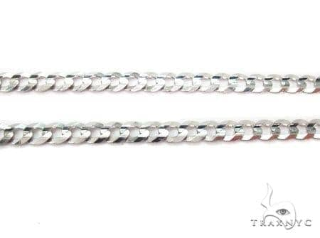 Mens 14k Solid White Gold Cuban/curb Chain 26 Inches 5.8mm 22.07 Grams 47155 Gold