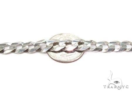 Mens 14k Solid White Gold Cuban/curb Chain 26 Inches 9.2mm 54.74 Grams 47162 Gold