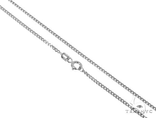 Mens 14k Solid White Gold Cuban/curb Chain 22 Inches 1.7mm 4.97 Grams 47188 Gold