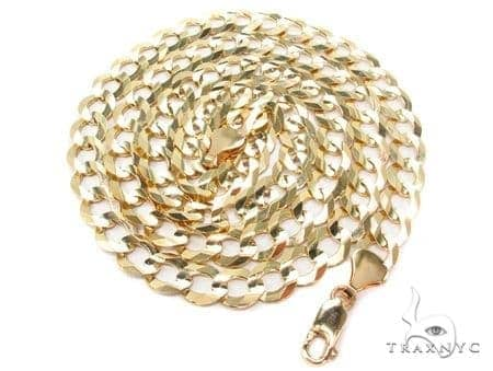 Mens 10k Solid Yellow Gold Cuban/curb Chain 24 Inches 11mm 62.55 Grams 47215 Gold