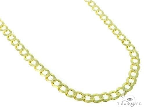 Mens 10k Hollow Yellow Gold Cuban/curb Chain 34 Inches 7mm 21.37 Grams 47251 Gold