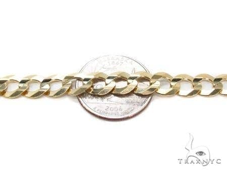 Mens 10k Hollow Yellow Gold Cuban/curb Chain 28 Inches 8.8mm 27.89 Grams 47254 Gold
