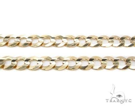 Mens 10k Hollow Yellow Gold Cuban/curb Chain 34 Inches 8.8mm 33.45 Grams 47257 Gold