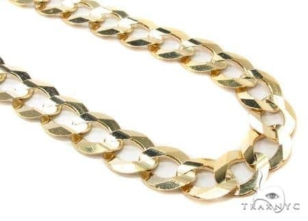 Mens 10k Hollow Yellow Gold Cuban/curb Chain 32 Inches 11.3mm 50.44 Grams 47261 Gold