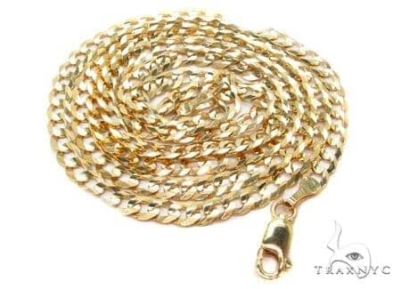 Mens 14k Solid Yellow Gold Cuban/curb Chain 22 Inches 3mm 6.06 Grams 47294 Gold