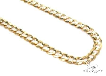 Mens 14k Solid Yellow Gold Cuban/curb Chain 20 Inches 3.6mm 7.35 Grams 47297 Gold