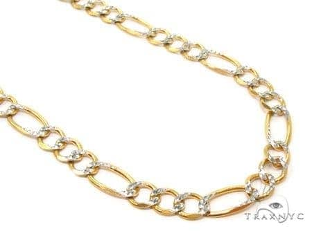 Mens 10k Solid Yellow Gold Figaro Chain 22 Inches 5.5mm 16.02 Grams 47330 Gold
