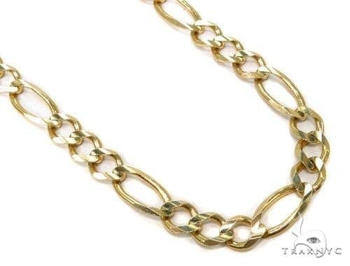Mens 14k Solid Yellow Gold Figaro Chain 22 Inches 9.4mm 76.35 Grams 47363 Gold